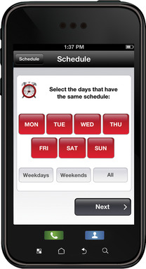 Honeywell Total Connect Comfort app: Schedule and modify your thermostat for days with similar patterns.