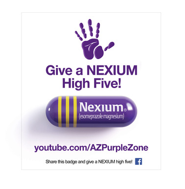 Give a NEXIUM high five by sharing this badge on Facebook