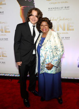 "Prince Jackson and Katherine Jackson arrive at the world premiere of ""Michael Jackson ONE by Cirque du Soleil"" at THEhotel at Mandalay Bay on June 29, 2013 in Las Vegas, Nevada. (Photo by Ethan Miller/Getty Images for Cirque du Soleil)"