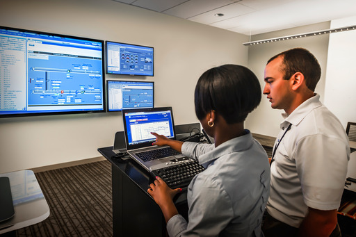 Facilities staff monitor real-time building performance using the Panoptix platform