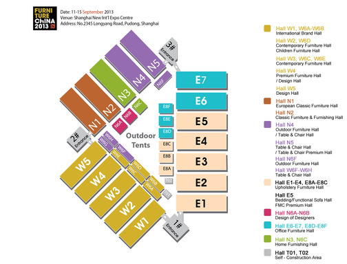Floor Plan of FC2013 at SNIEC