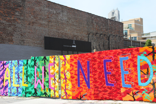 "OLEK created ""Forgotten Barrier"" in collaboration with ABSOLUT's Open Canvas Initiative, on display in Williamsburg through Saturday, June 29."