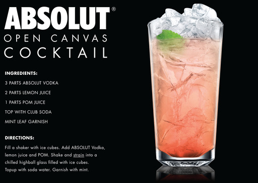 ABSOLUT Open Canvas Cocktail