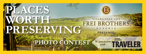 Enter the Places Worth Preserving Photo Contest on Frei Brothers Reserve's Facebook Page