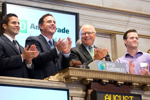Josh Landau, University of San Diego, Tom Nally, president TD Ameritrade Institutional, Fred Tomczyk, CEO, TD Ameritrade, Christopher Johnson, Texas Christian University