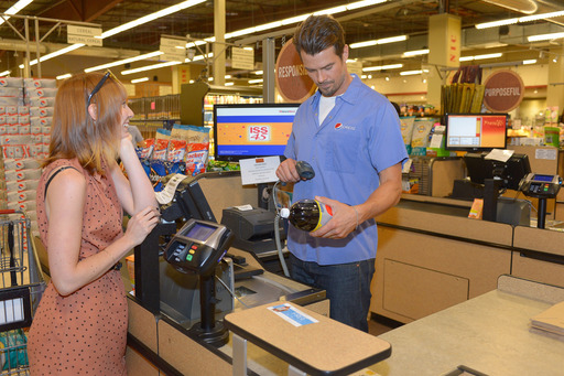 "Josh Duhamel surprises Diet Pepsi customers by ""checking them out"" at the cash register. Go to dietpepsi.com to see more"