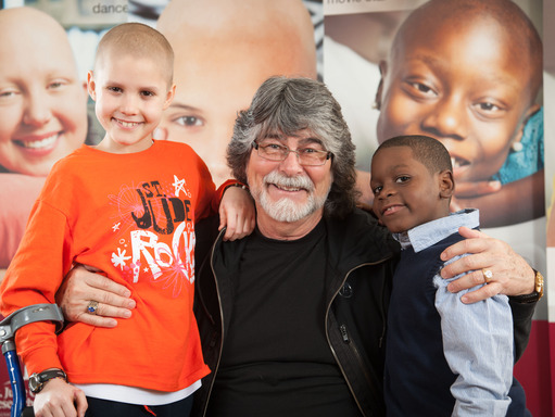 Country Cares founder Randy Owen spent some time with patients Jorge and Tyron during the 25th anniversary Country Cares Seminar.