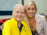 Kellie Pickler poses with St. Jude patient Parker during the Country Cares for St. Jude Kids Seminar.