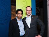 David Coleman and Sal Khan at today's announcement event