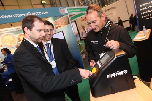 Visitors test the products at SHE 2013