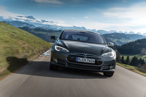 Tesla Model S hits European roads