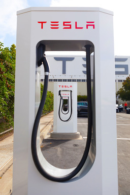 Tesla Model S Supercharging stations