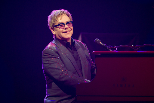 Elton John performs onstage during the iHeartRadio Music Festival at the MGM Grand Garden Arena on September 20, 2013 in Las Vegas, Nevada. (Photo by Brian Friedman/Getty Images for Clear Channel)