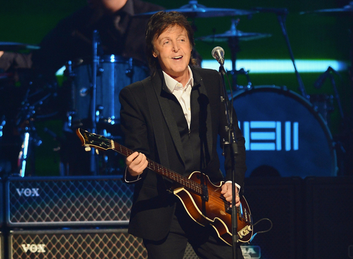 Paul McCartney performs onstage during the iHeartRadio Music Festival at the MGM Grand Garden Arena on September 20, 2013 in Las Vegas, Nevada. (Photo by Ethan Miller/Getty Images for Clear Channel)