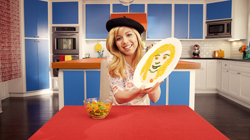 Nickelodeon star Jennette McCurdy on the set of her Birds Eye veggies shoot showing kids how fun eating their veggies can be.