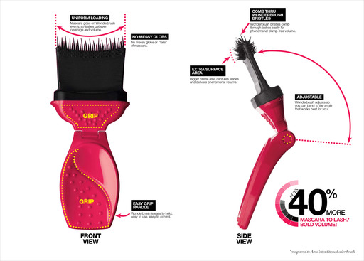 Avon's first-ever Wonderbrush fits the curve of your eyes for a corner to corner lash transformation. Mega Effects Mascara replaces the standard wand with an innovative new multi-dimensional brush.