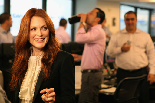 Julianne Moore fundraises at Cantor Fitzgerald's Annual Charity Day hosted by Cantor Fitzgerald and BGC Partners, at the Cantor Fitzgerald offices on September 11, 2013 in New York