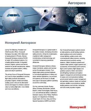 Learn More about Honeywell Aerospace