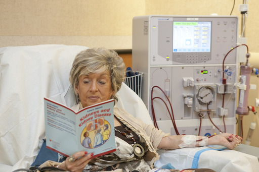 Kidney failure is treated by dialysis or transplant