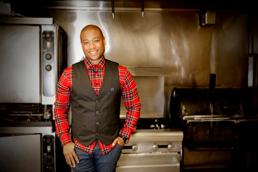 Chef Mattocks, a diabetic himself, at home in the kitchen