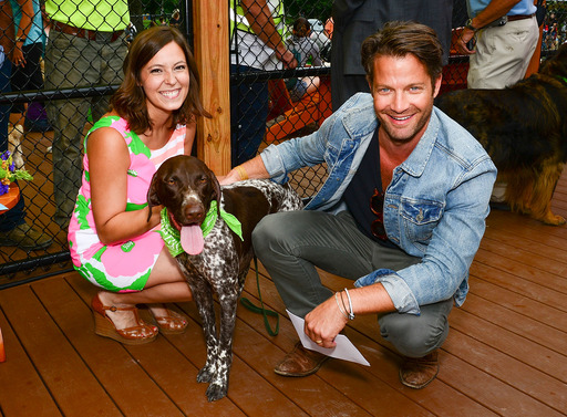A DREAM DOG PARK  - Nate Berkus, designer and dog lover, celebrates with Angela Bauman, the Grand Prize Winner of the 2012 Beneful® Dream Dog Park Contest, and her dog Beau at the unveiling of the newly renovated $500,000 Dream Dog Park in Lancaster, Pa.