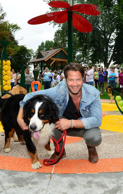 LANCASTER GOES TO THE DOGS - Nate Berkus, designer and dog lover, was on hand to kick-off the 4th annual Beneful® Dream Dog Park Contest. To enter and for the official rules, visit www.BenefulDreamDogPark.com.