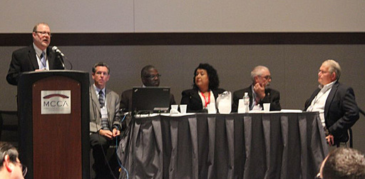 A panel of ICMA members discusses gun violence and its impact on communities at a special forum during ICMA's 99th Annual Conference in Boston, Mass., on September 22, 2013.