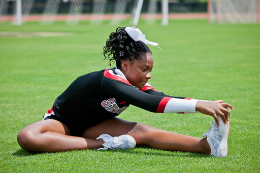 Stretching before practice and games can help prevent sports-related injuries.