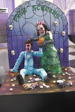 Creative display on Food Network's Halloween Wars