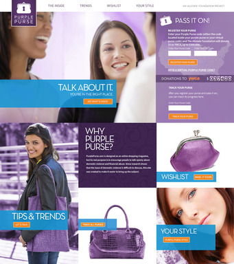This October, Domestic Violence Awareness Month, visit PurplePurse.com to pass virtual purple purses. For each pass The Allstate Foundation will donate $5 to the YWCA, up to $350,000.