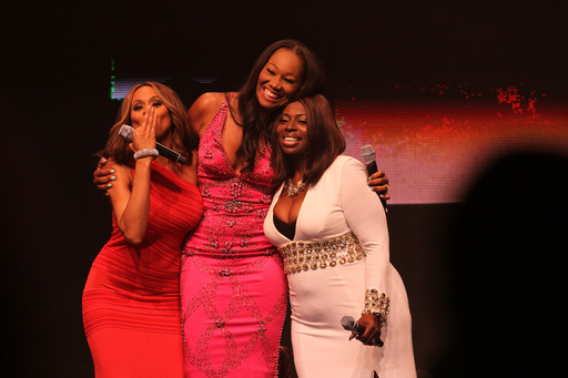 Recording artists Deborah Cox, Yolanda Adams and Angie Stone perform a tribute to Lifetime Achievement honoree Gladys Knight during the 10th annual McDonald's® 365Black® Awards.