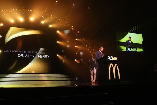 Education leader Dr. Steve Perry accepted the McDonald's® 365Black® Award for Education at the 10th annual ceremony.