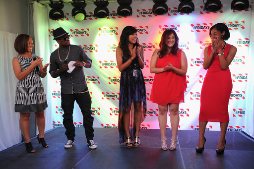 NE-YO and the three finalists for the TGI Fridays Red Hot Summer of Music.