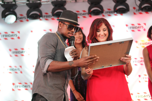 NE-YO crowns Felicia Millikan the winner of the TGI Fridays Red Hot Summer of Music.