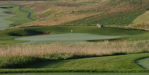 Reclaimed mine land is today a community golf course.  Since 1978 the US mining industry has restored more than 2.7 million acres of mined lands.