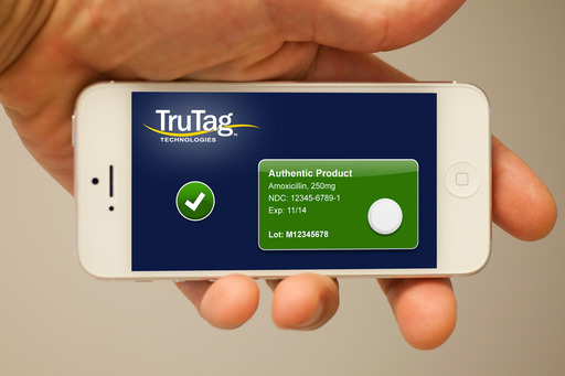 The data output from the TruTag reader can be viewed on a smartphone or wireless tablet