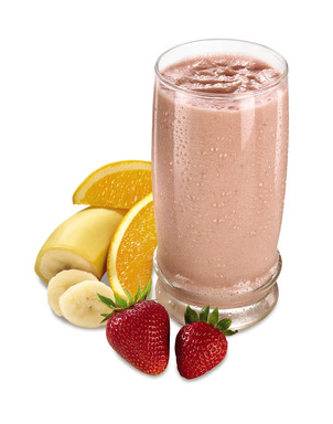 #Denny's BananaBerry Orange Smoothie, made with nonfat yoghurt, banana, strawberry and orange, offers a refreshing treat any time of day