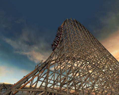 Goliath: World's Fastest Wooden Coaster with Tallest and Steepest Drop