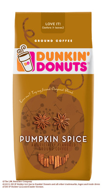Dunkin' Donuts® Pumpkin Spice Flavored Coffee