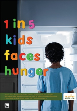 New PSAs Help Kids get the Food They Need. Visit FeedAmerica.org