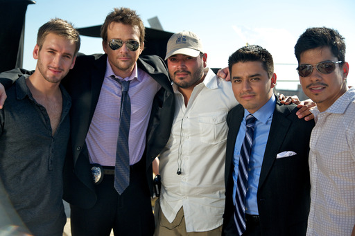 (L-R) Will Rothhaar, Sean Patrick Flanery, Director Bryan Ramirez, Producer Douglas Spain, Jeremy Ray Valdez