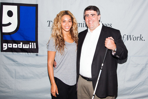 Beyonce and Jim Gibbons, Goodwill Industries International president and CEO