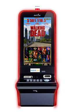 "Aristocrat has unleashed a giant horde of zombies in its new The Walking Dead™ Slot Game, based on AMC's monster hit TV show ""The Walking Dead."" The Walking Dead © 2013 AMC Film Holdings LLC. All Rights reserved."
