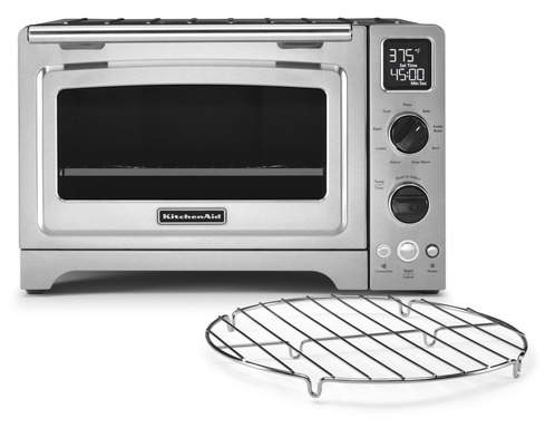 The KitchenAid® Digital Countertop Oven with 12-inch oven capacity offers cooks full-size oven capabilities in a convenient, compact cooking appliance. Suggested retail price is $400.