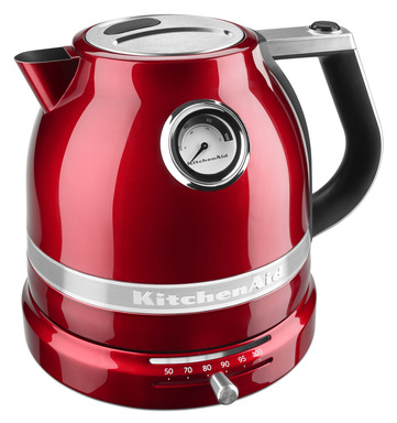 The KitchenAid® Pro Line® Series Electric Kettle quietly boils water in minutes and has variable temperature settings for more delicate drinks, like green tea. Suggested retail price is $199.99.