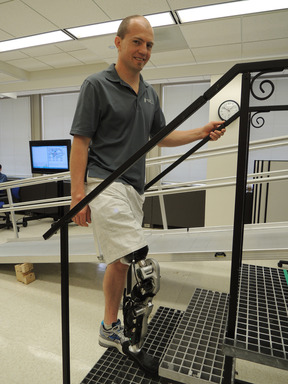 Zac Vawter is the focus of Rehabilitation Institute of Chicago's study in the New England Journal of Medicine, which reveals clinical applications for the world's first thought-controlled bionic leg.