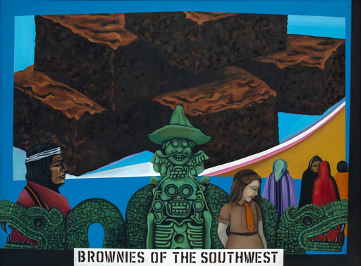 "Melesio ''Mel'' Casas, ""Humanscape 62"", 1970, acrylic, Smithsonian American Art Museum, Museum purchase through the Luisita L. and Franz H. Denghausen Endowment. © 1970, the Casas Family"