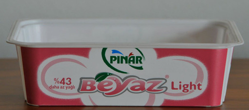 Beyaz cheese container
