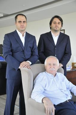 Engin Teber (left), Erdem Teber (right) and Abdullah Teber (sitting down)