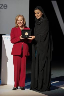 Doha, Qatar - 2013 WISE Prize for Education awarded to Ms. Vicky Colbert